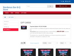 Bandana's gift card purchase