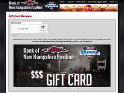 Bank of New Hampshire Pavilion gift card purchase