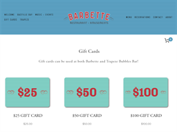 Barbette gift card purchase