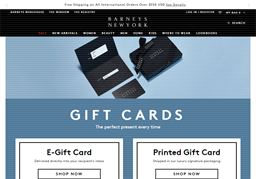 Barneys New York gift card purchase