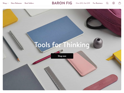 Baron Fig Notebooks shopping
