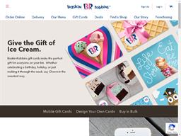 Baskin Robbins gift card purchase