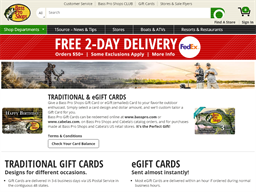 Bass Pro Shops gift card purchase
