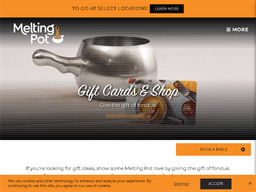 The Melting Pot gift card purchase