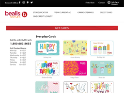 Bealls Outlet gift card purchase