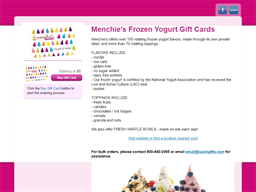 Menchie's My Smileage Reward gift card purchase
