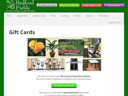 Bedford Fields Home & Garden Center gift card purchase