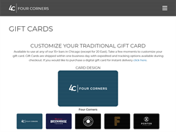 Benchmark gift card purchase