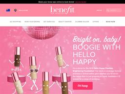 Benefit Cosmetics shopping