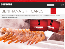 Benihana gift card purchase