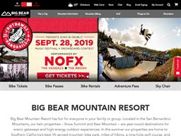 Big Bear Mountain shopping