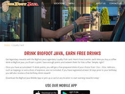 BigFoot Java Drive Thru Coffee gift card purchase