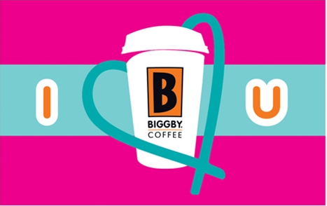 Biggby Coffee gift card design and art work