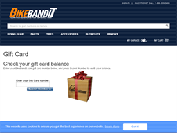 Bike Bandit gift card purchase
