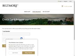 Biltmore gift card balance check