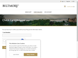 Biltmore gift card purchase