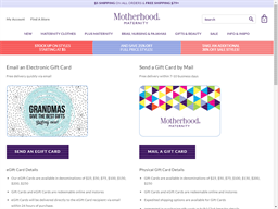 Motherhood Maternity gift card balance check