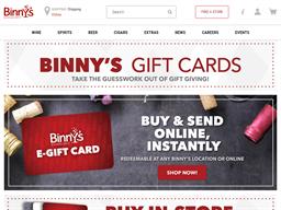 Binny's Beverage Depot gift card purchase