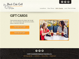Black Oak Grill gift card purchase