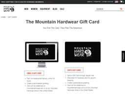 Mountain Hardwear gift card balance check