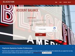 BlackFinn Ameripub gift card balance check