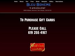 Bleu Boheme gift card purchase