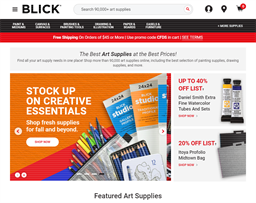 Blick Art Materials shopping