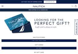 Nautica gift card purchase