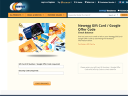 Newegg gift card balance check