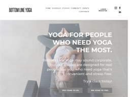 Bottom Line Yoga shopping