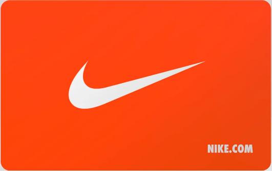 Nike gift card design and art work