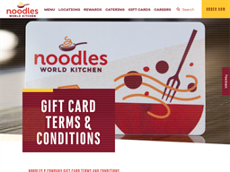 Noodles World Kitchen gift card purchase