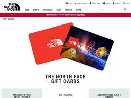The North Face gift card balance check