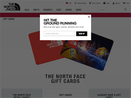 The North Face gift card purchase