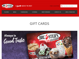 Bruster's Ice Cream gift card purchase