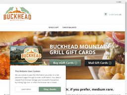 Buckhead Mountain Grill gift card purchase
