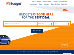 Budget Car Rental shopping