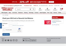Office Depot gift card balance check