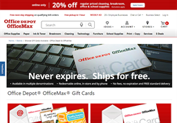 Office Depot gift card purchase