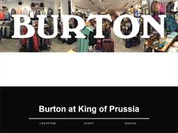 Burton King of Prussia shopping