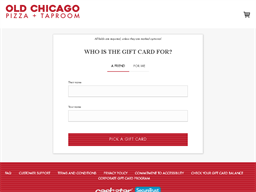 Old Chicago gift card purchase