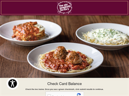 The Old Spaghetti Factory gift card balance check