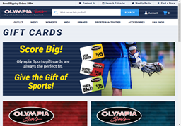 Olympia Sports gift card balance check