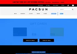 PacSun gift card balance check