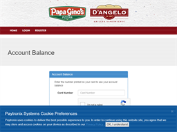 Papa Gino's gift card balance check