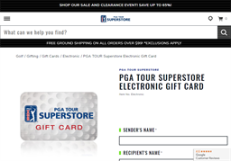 PGA Superstore gift card purchase