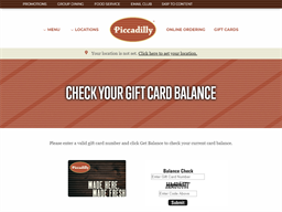 Piccadilly gift card balance check