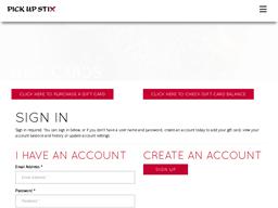 Pick Up Stix gift card balance check