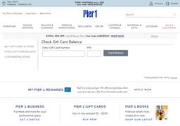 Pier 1 gift card balance check