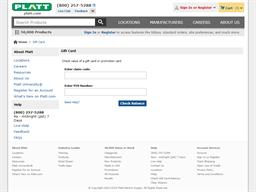 Platt gift card purchase